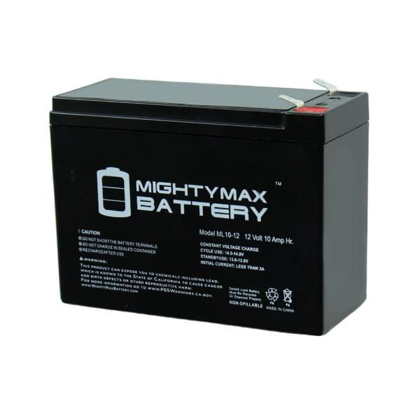 Mighty Max Battery 12-volt 10 Ah Sealed Lead Acid Sla Rechargeable Battery-ml10-12 - Home