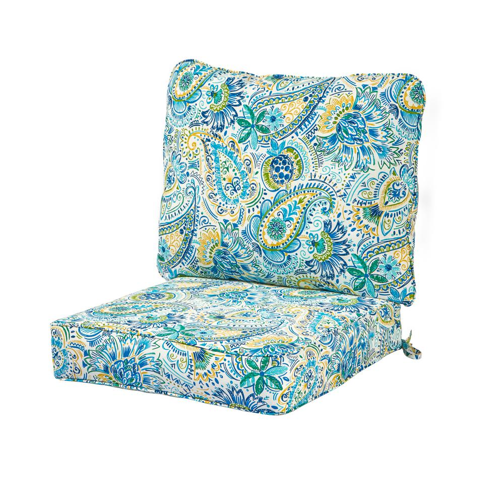 Paisley Chair Greendale Home Fashions Baltic Paisley 2 Piece Deep Seating Outdoor Lounge Chair Cushion Set