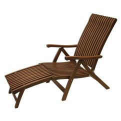 Outdoor Chaise Lounge Chair With Ottoman Kids Car Barber Interiors Venetian Reclining Eucalyptus Wood