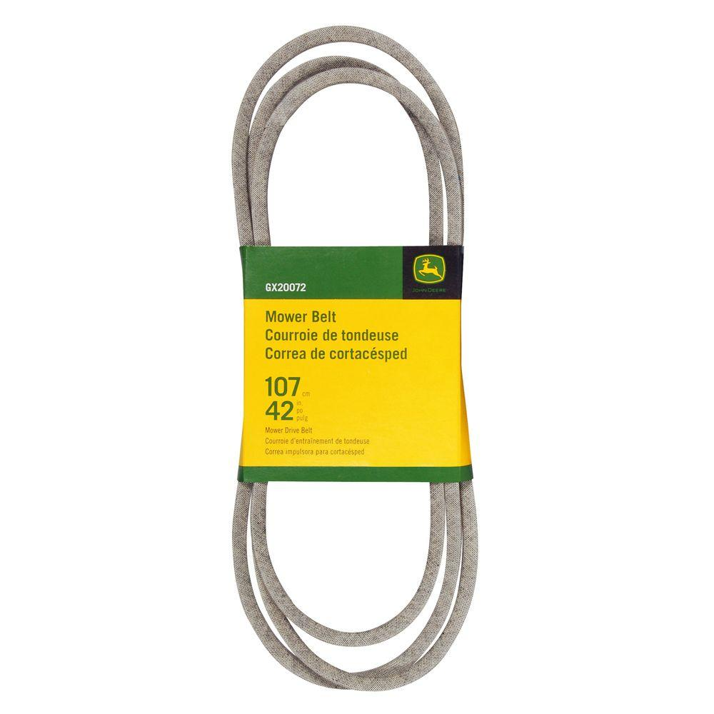 medium resolution of mower belt for select john deere mowers