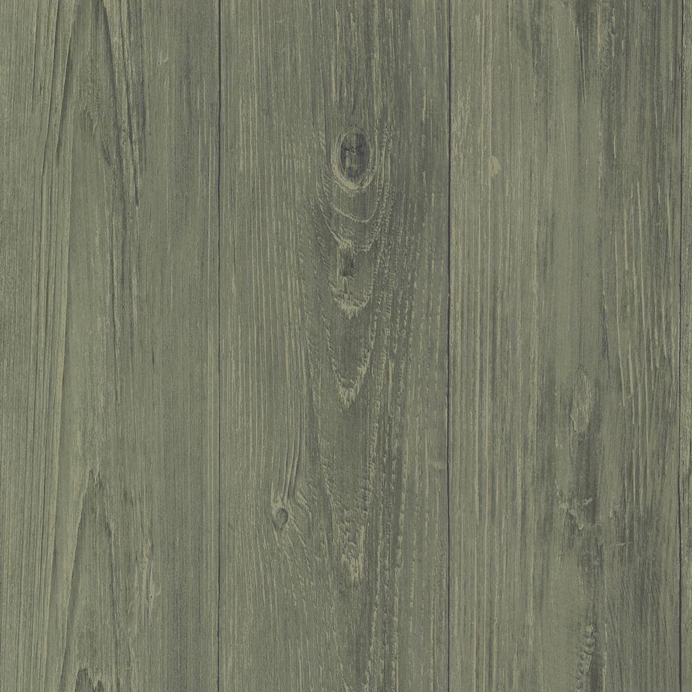 Chesapeake Mapleton Sage Faux Wood Texture Wallpaper