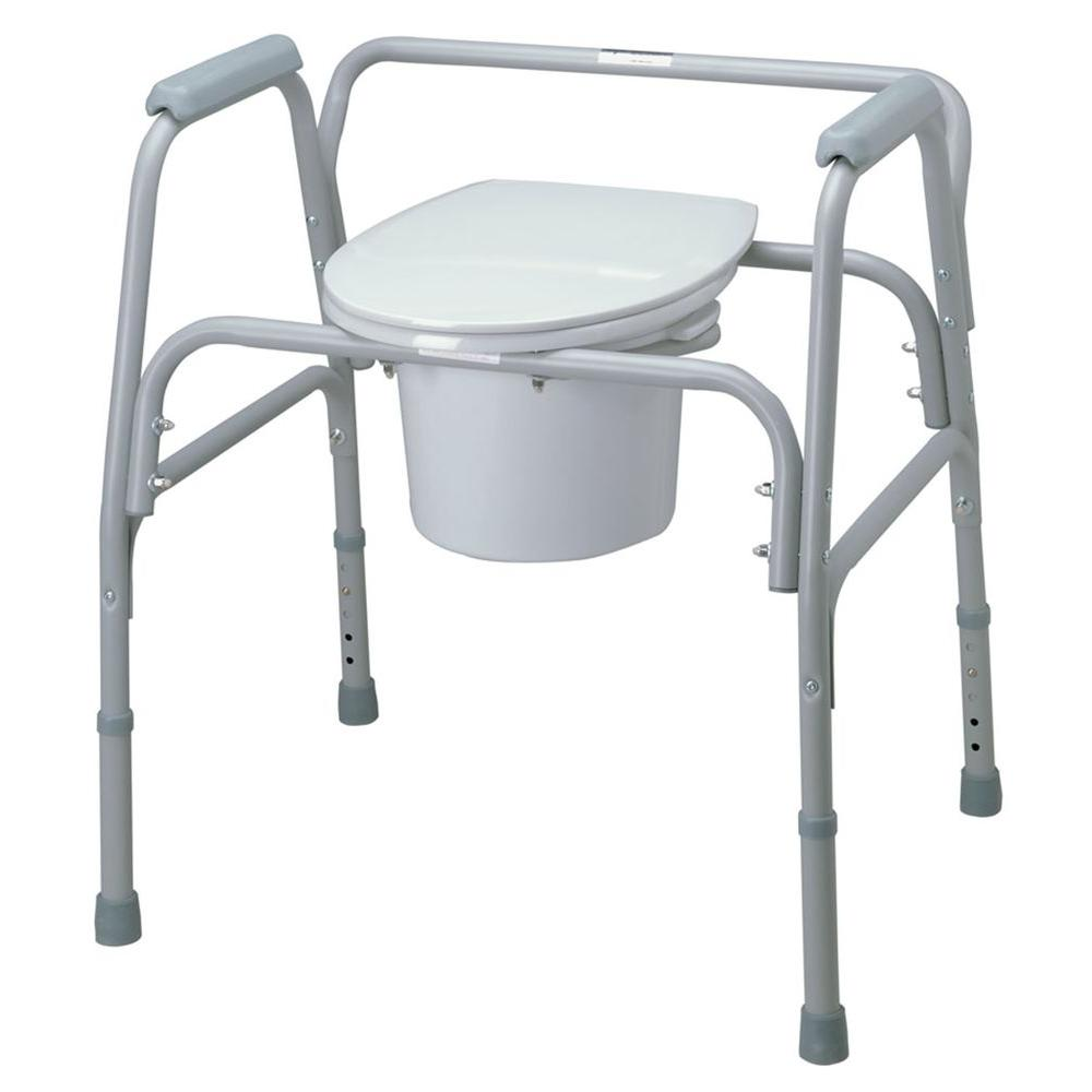 Bedside Commode Chair Medline Bariatric Folding Bedside Commode