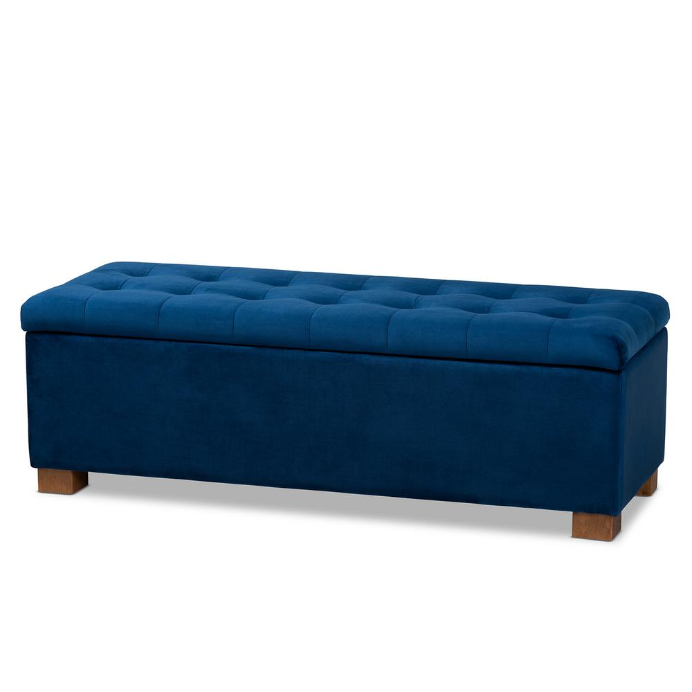 baxton studio roanoke navy blue storage ottoman bench 160 9929 hd the home depot