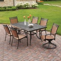 Hampton Bay Niles Park 7-piece Sling Patio Dining Set-s7