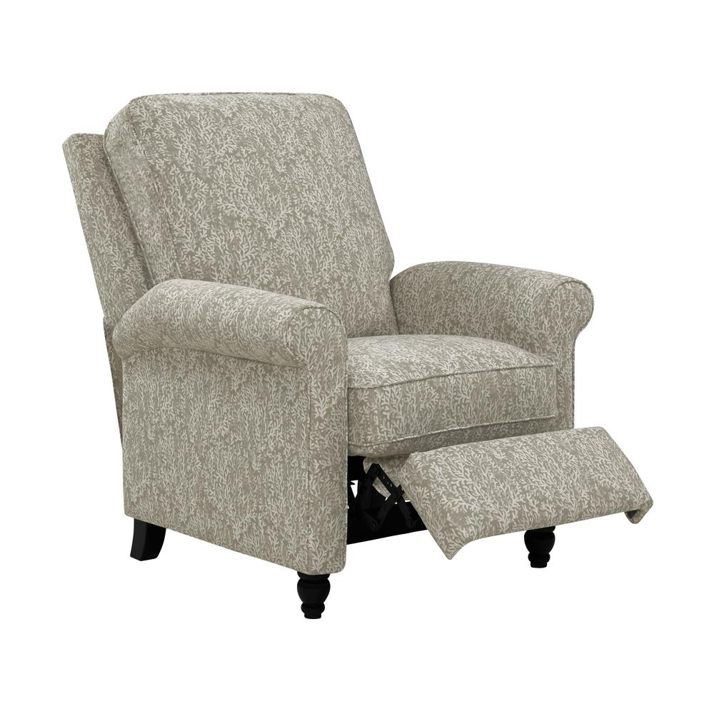 push back chair floor gaming prolounger taupe coral woven fabric recliner rcl37