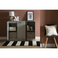 South Shore Axess Soft Gray Storage Cabinet-10195 - The ...