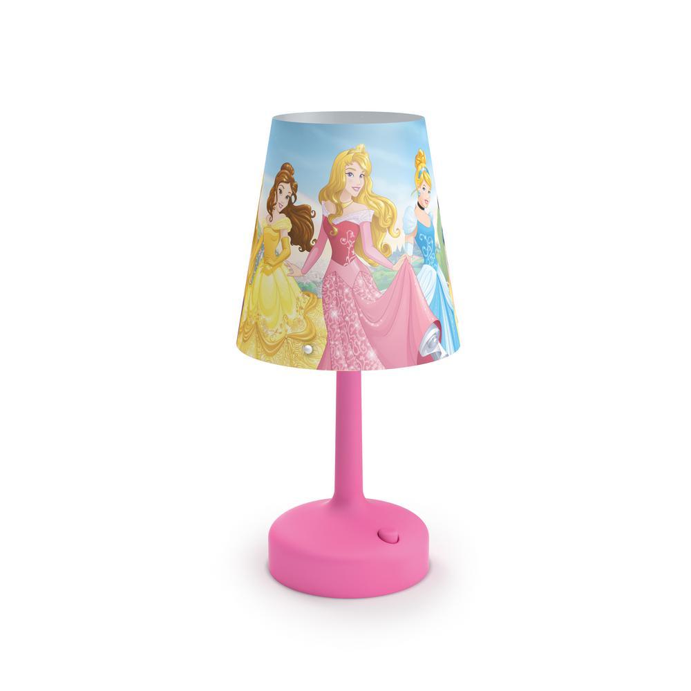 Philips Disney Princess 10 in. Indoor Portable Table Lamp