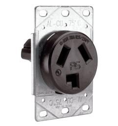 pass and seymour 30 amp 125 250 volt nema 10 30r flush mount power wiring devices 30amp flushmount dryer appliance electrical outlet [ 1000 x 1000 Pixel ]