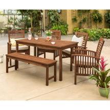Walker Edison Furniture Company Dark Brown 6-piece Wood
