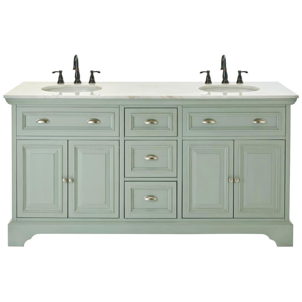 Home Decorators Collection Sadie 67 in W Double Bath