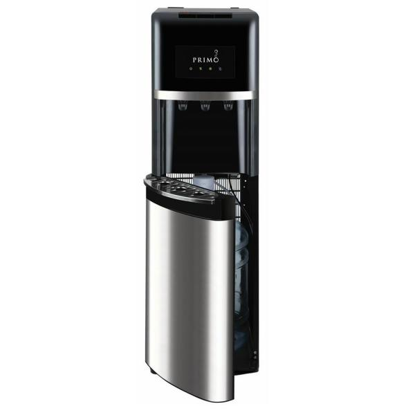 Primo Stainless Steel Bottom Load Water Dispenser Hot Cold Cooler Black
