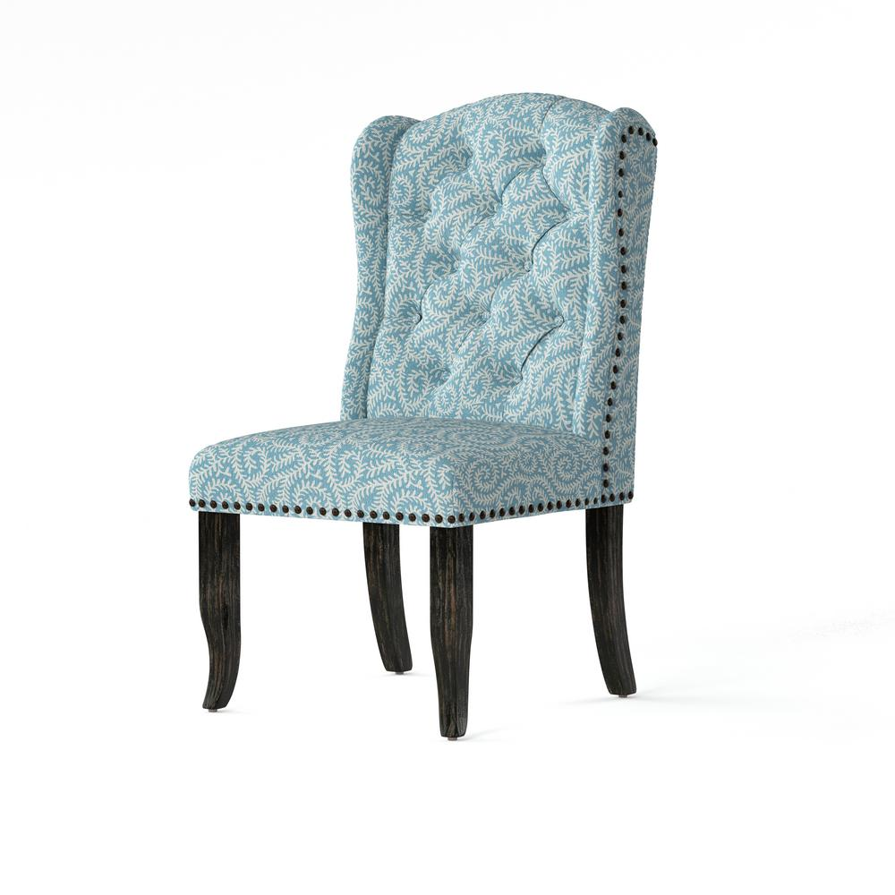 Blue Patterned Chair Furniture Of America Edwards Blue Upholstered Patterned Accent