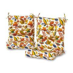 Patio High Back Chair Cushions Gym Walmart Greendale Home Fashions Esprit Floral Outdoor Dining Cushion 2 Pack