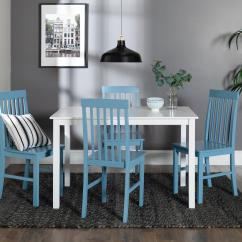 Blue And White Dining Chairs Hanging Chair Indoor Amazon Walker Edison Furniture Company Greyson 5 Piece Powder Set