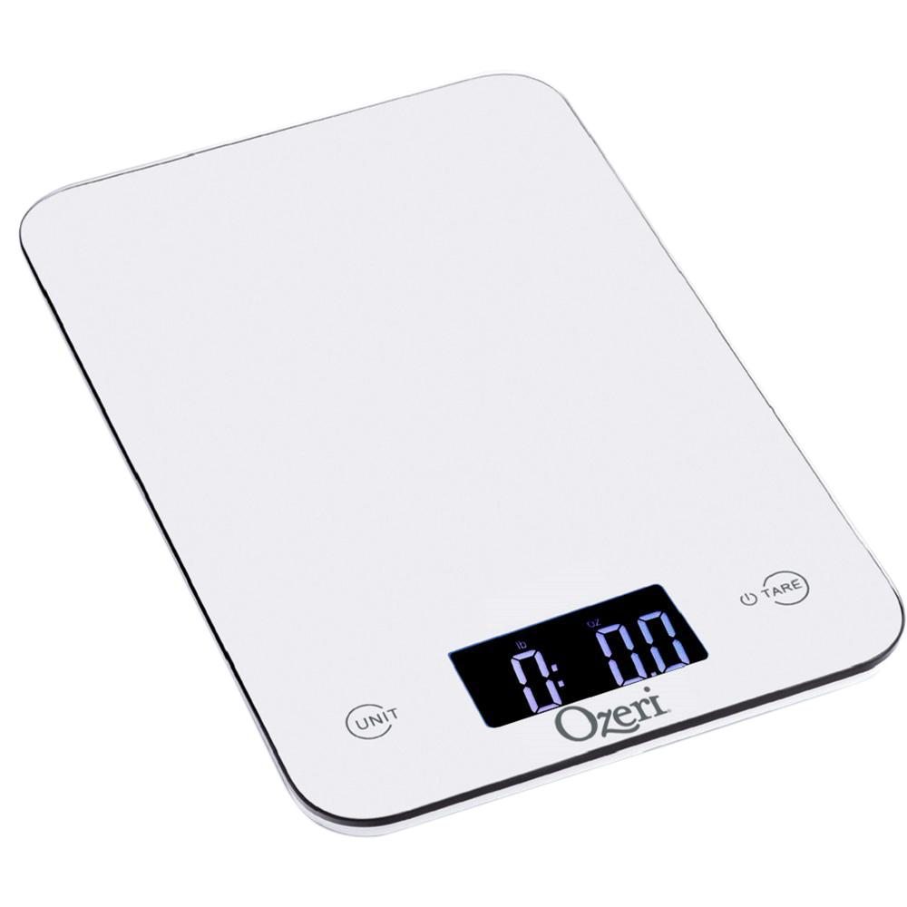kitchen scales delta trinsic faucet ozeri touch professional digital scale 12 lbs edition tempered glass in white