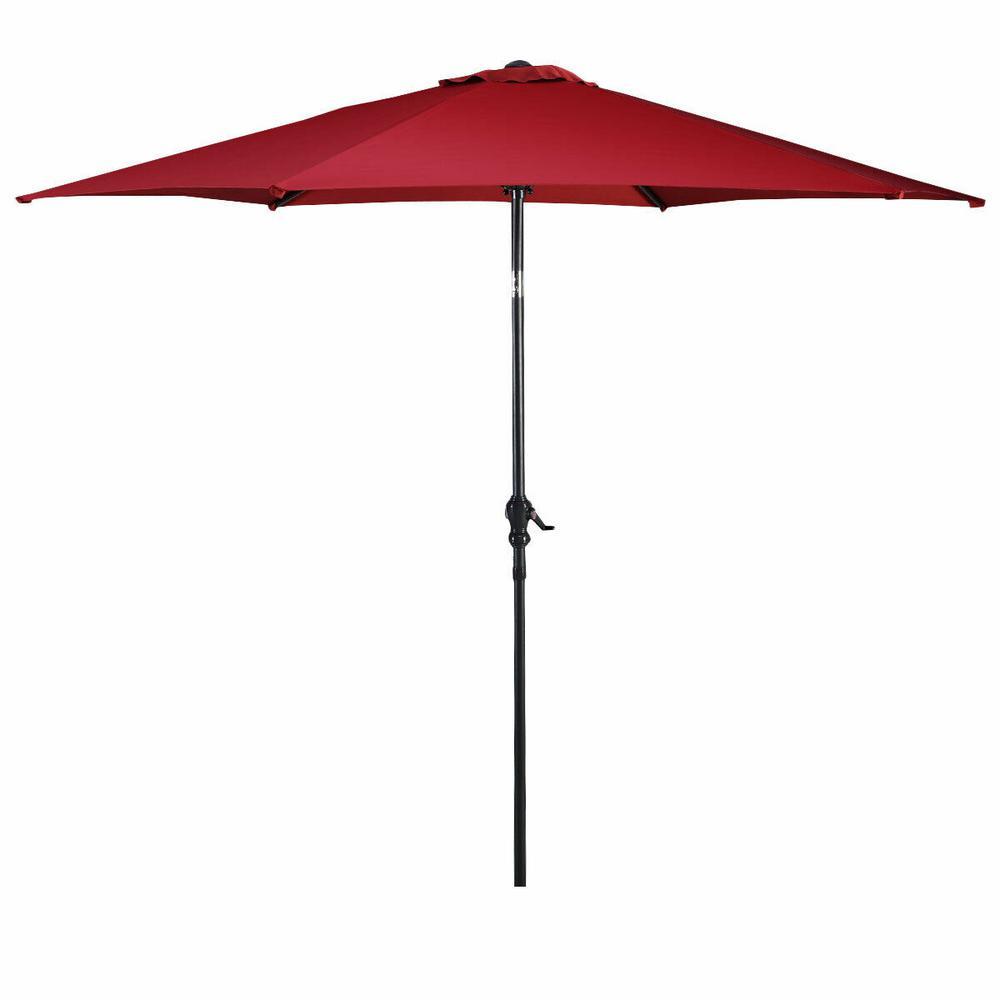 9ft 8 ribs outdoor patio umbrella crank