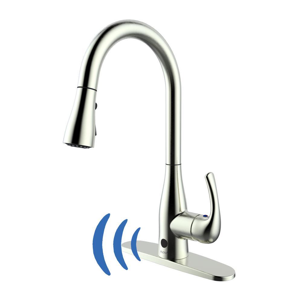 motion faucet kitchen blue appliances sensor sprayer hands free wash sink diy remodel hardware