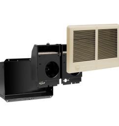 com pak twin 4 000 watt 240 volt fan forced in wall electric heater almond [ 1000 x 1000 Pixel ]