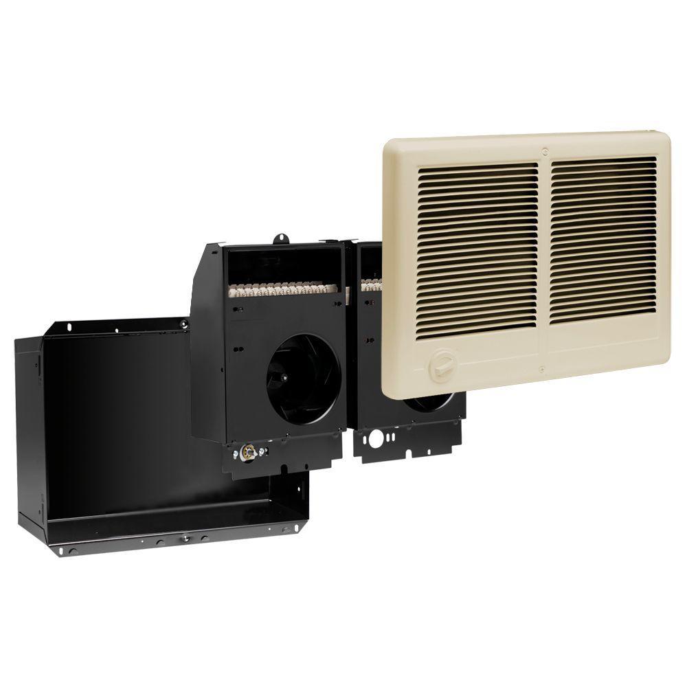 hight resolution of com pak twin 4 000 watt 240 volt fan forced in wall electric heater almond
