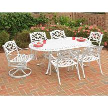 Home Styles Biscayne White 7-piece Patio Dining Set With