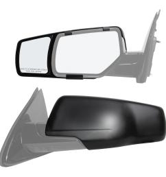 snap zap clip on towing mirror set for 2015 2018 chevrolet suburban  [ 1000 x 1000 Pixel ]