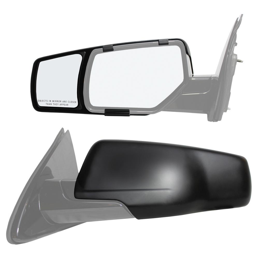 hight resolution of snap zap clip on towing mirror set for 2015 2018 chevrolet suburban