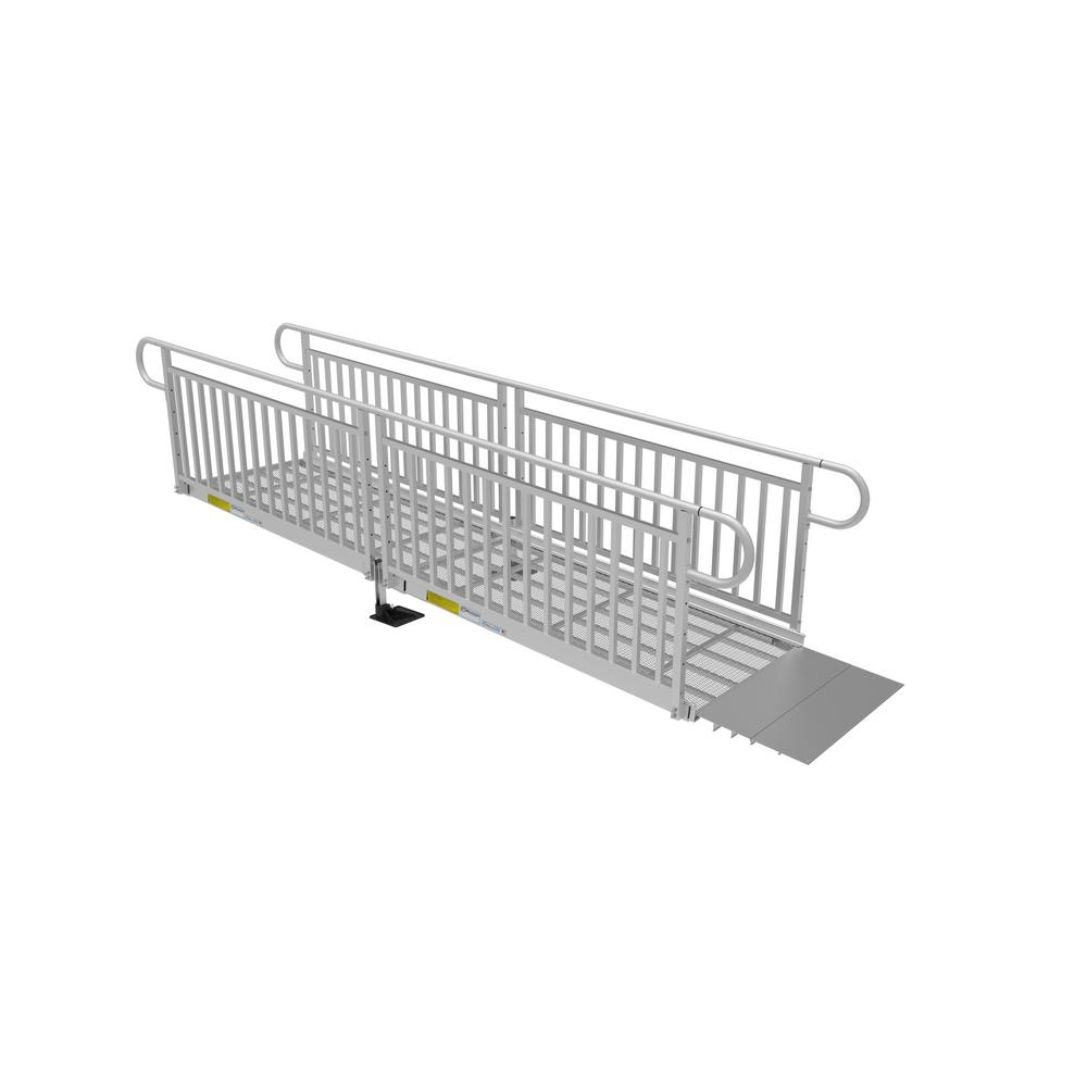 EZ-ACCESS 12 ft. Expanded Metal Ramp Kit with Vertical