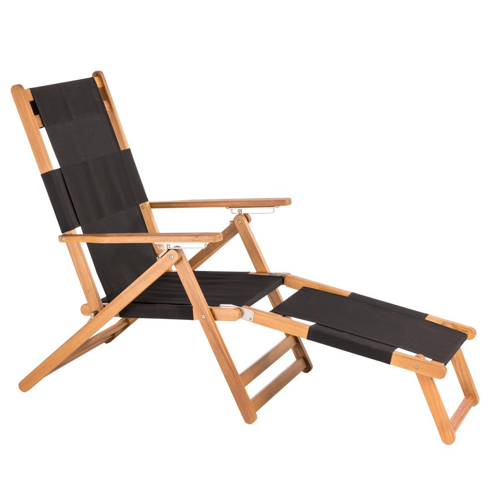 Folding Wood Beach Chair Patio Sense Varadero Wood Folding And Reclining Beach Chair