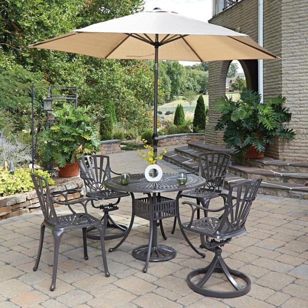 5 Piece Patio Dining Set with Umbrella