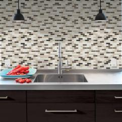 Stick On Backsplash Tiles For Kitchen Cabinets Naples Fl Smart 9 10 In X 20 Mosaic Peel And Decorative Wall Tile Murano Dune Sm1035 1 The Home Depot