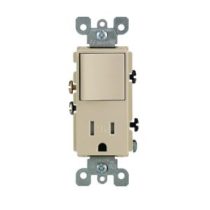 outlet switch combo wiring diagram 220 leviton 15 amp smartlockpro combination gfci and decora commercial grade single pole rocker ivory