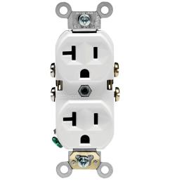 wiring double duplex receptacles in room wiring diagram load leviton 20 amp commercial grade duplex outlet [ 1000 x 1000 Pixel ]