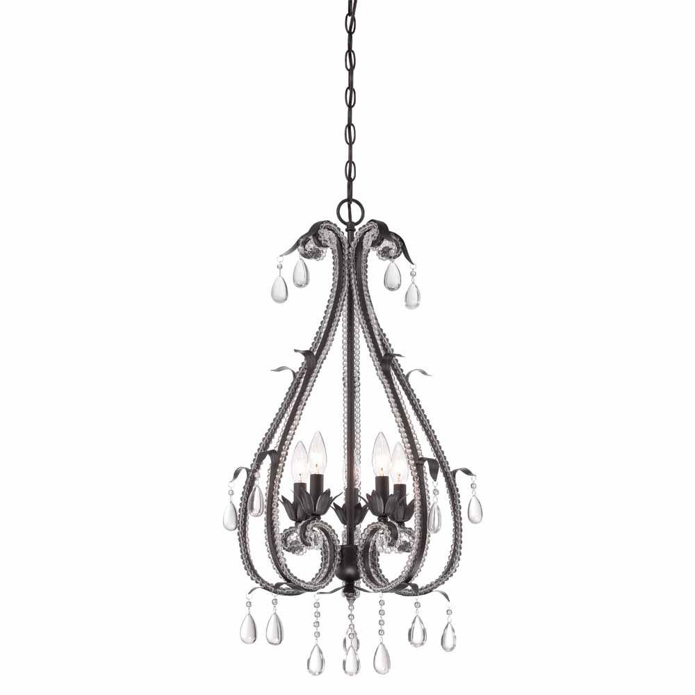 Hampton Bay Signature 5-Light Oil Rubbed Bronze Hanging