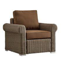 Wicker Chair with Rolled Arms