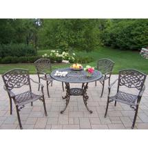 Mississippi 5-piece Aluminum Outdoor Dining Set-hd2011