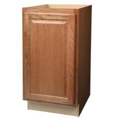 Pull Out Kitchen Cabinet Macy's Towels Hampton Bay Assembled 18x34 5x24 In Trash Can Base Medium Oak
