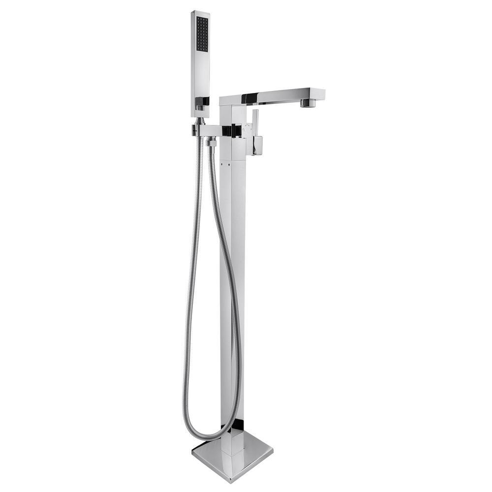 AKDY 1Handle Freestanding Floor Mount Roman Tub Faucet