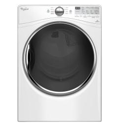 whirlpool 7 4 cu ft 240 volt stackable white electric vented dryer with advanced [ 1000 x 1000 Pixel ]