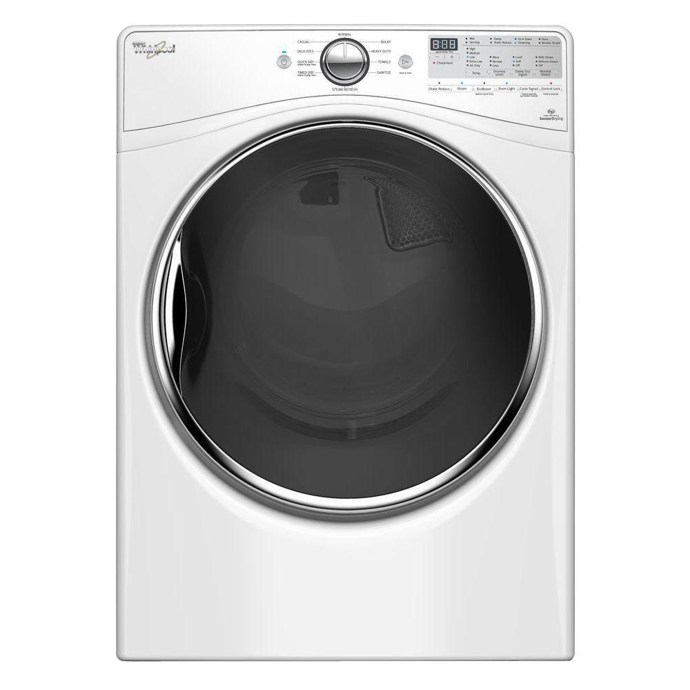 hight resolution of whirlpool 7 4 cu ft 240 volt stackable white electric vented dryer with advanced