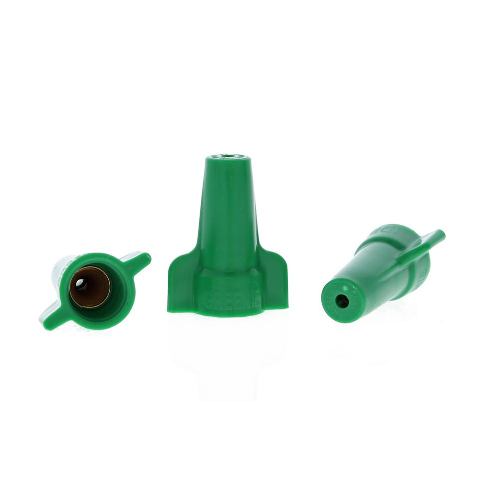 medium resolution of ideal greenie grounding wire connectors 92 green 100 per pack