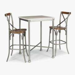 Metal Kitchen Table Sets Round And Chairs Set Classic 4 Legs Dining Tables Orleans 3 Piece White Gray Bar