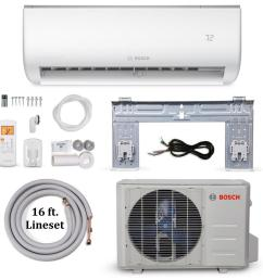 bosch climate 5000 energy star 12 000 btu 1 ton ductless mini split air conditioner and heat pump 115 volt 60 hz 8733948000 the home depot [ 1000 x 1000 Pixel ]