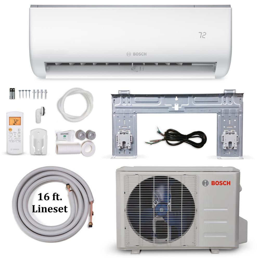 medium resolution of bosch climate 5000 energy star 12 000 btu 1 ton ductless mini split air conditioner and heat pump 115 volt 60 hz 8733948000 the home depot