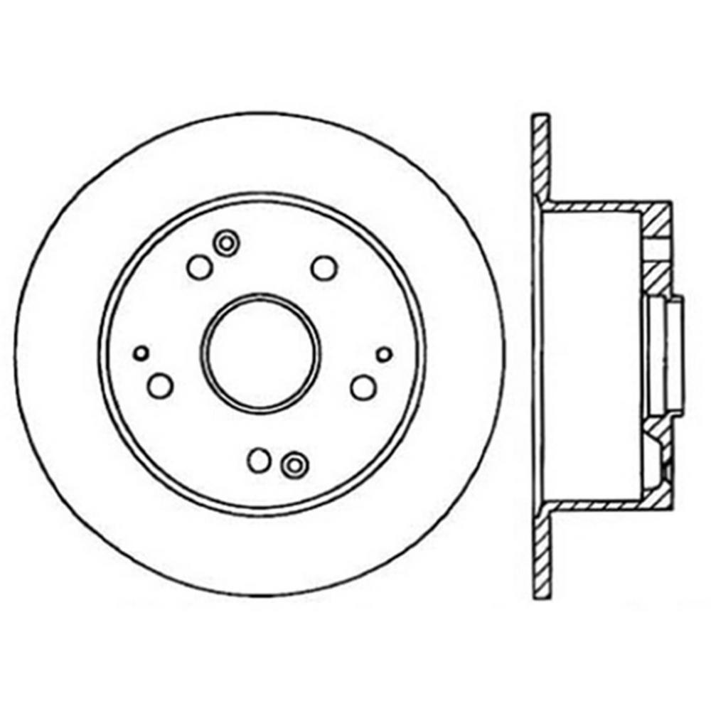 Centric Parts Disc Brake Rotor 1996-1998 Acura TL-121