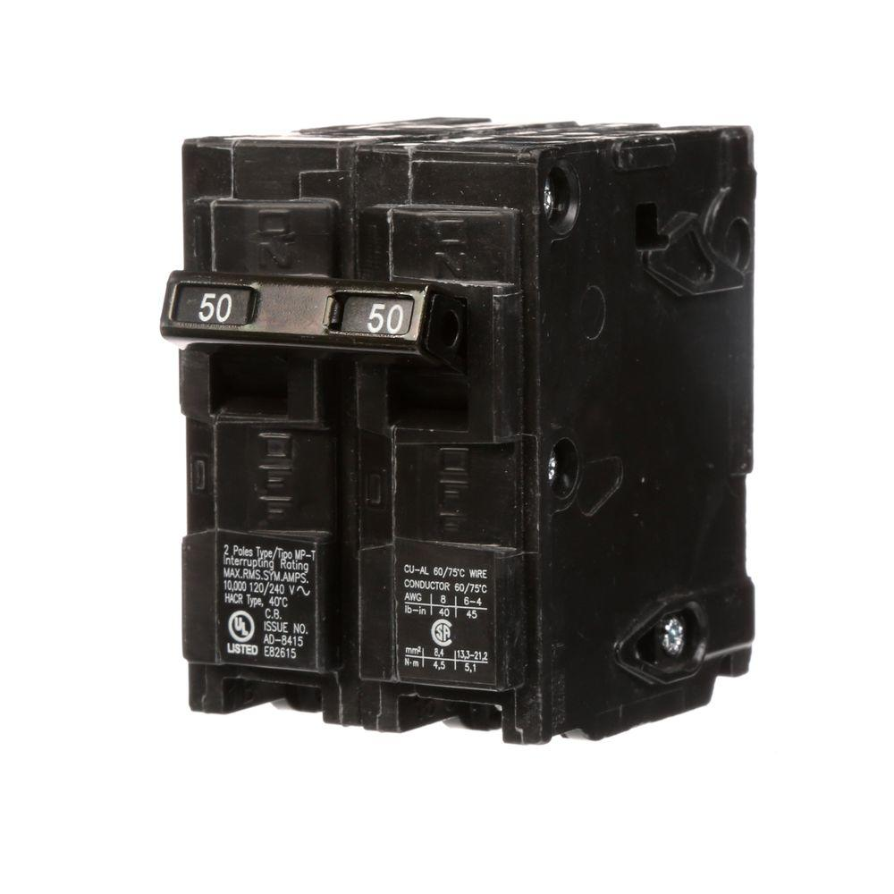 medium resolution of siemens 50 amp double pole type mp circuit breaker mp250 the home depot
