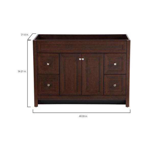 Home Decorators Collection Brinkhill 48 In W X 34 In H X 22 In D Bath Vanity Cabinet Only In Cognac Bwsd4821 Cg The Home Depot