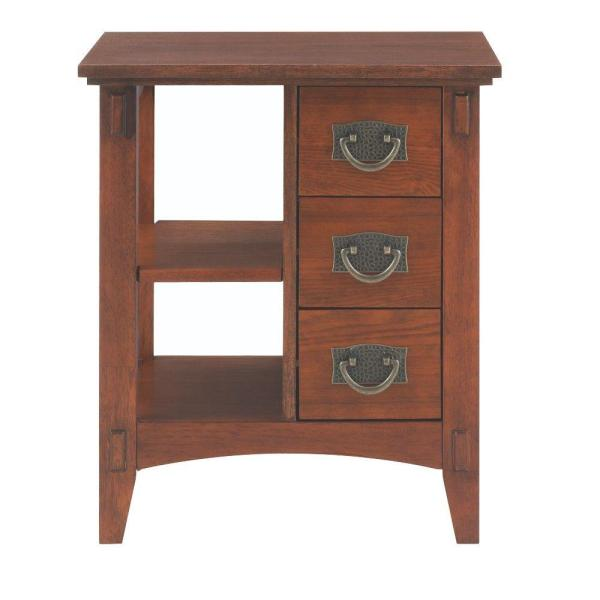 Oak End Tables with Storage