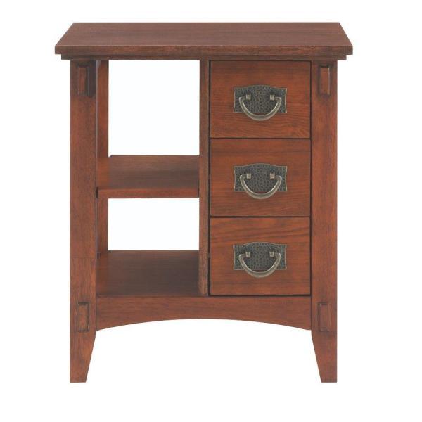 Home Decorators Collection Medium Oak Storage End Table-9224000550 - Depot