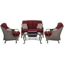 Hanover Ventura 4-piece -weather Wicker Patio