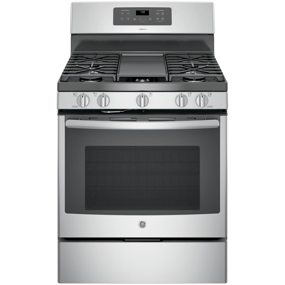 medium resolution of ge adora 5 0 cu ft gas range with self cleaning convection oven in